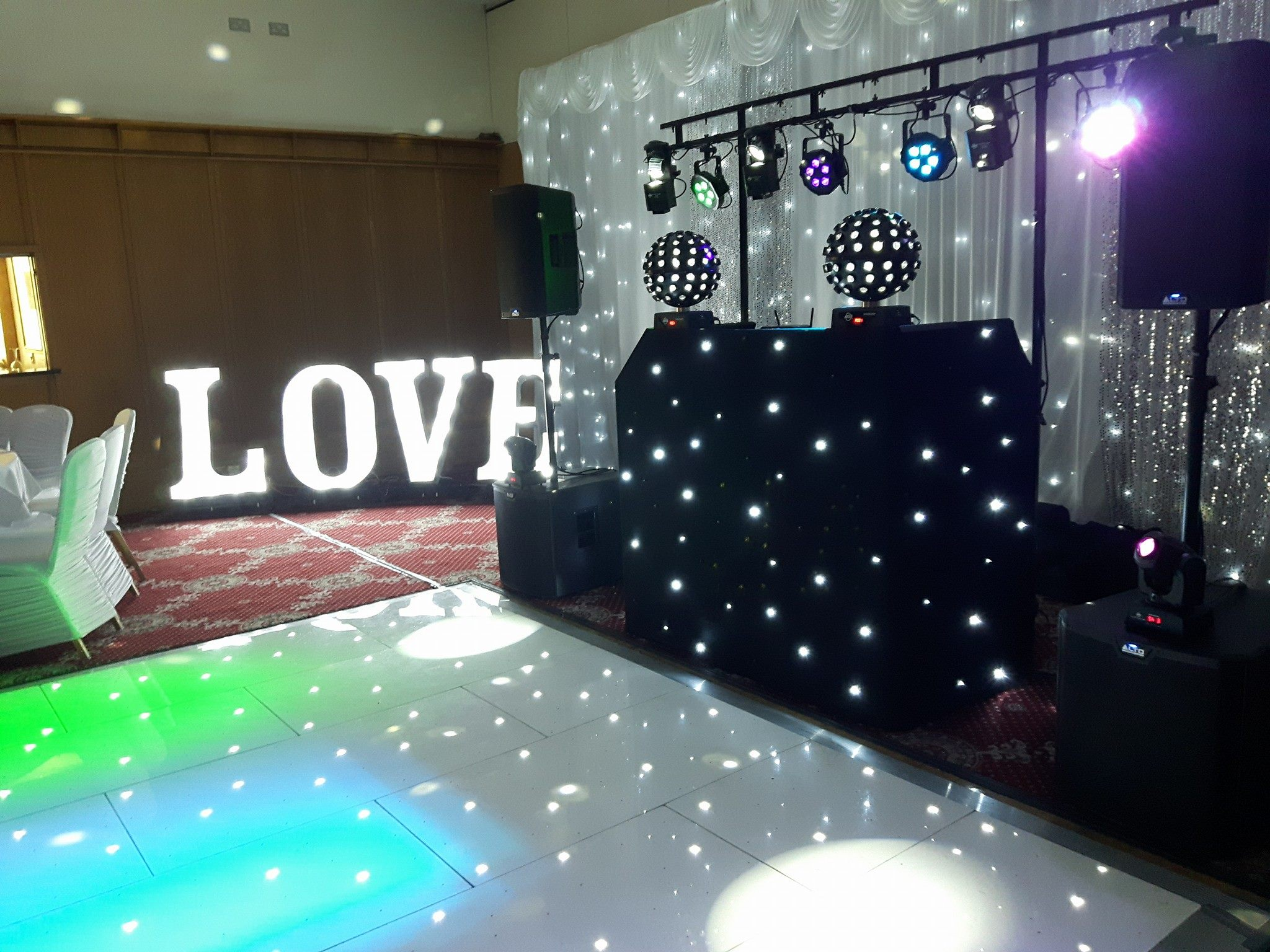 LED Dance floor Hire La Mon