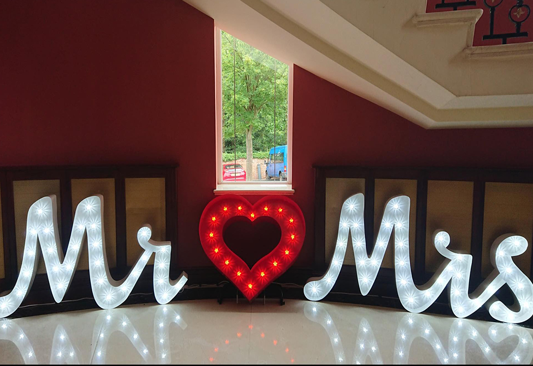 Light Up Letters Hire Northern Ireland
